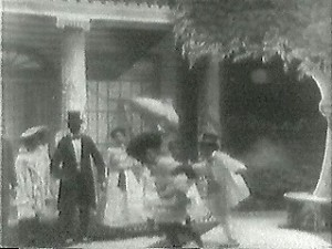 Uncle Tom and Little Eva in the Garden - 1903 Thomas Edison Film Version of Uncle Tom's Cabin