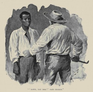 "Uncle Tom and Simon Legree face off in ""Uncle Tom's Cabin."""
