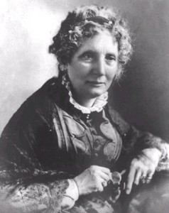 "Harriet Beecher Stowe, author of ""Uncle Tom's Cabin."""