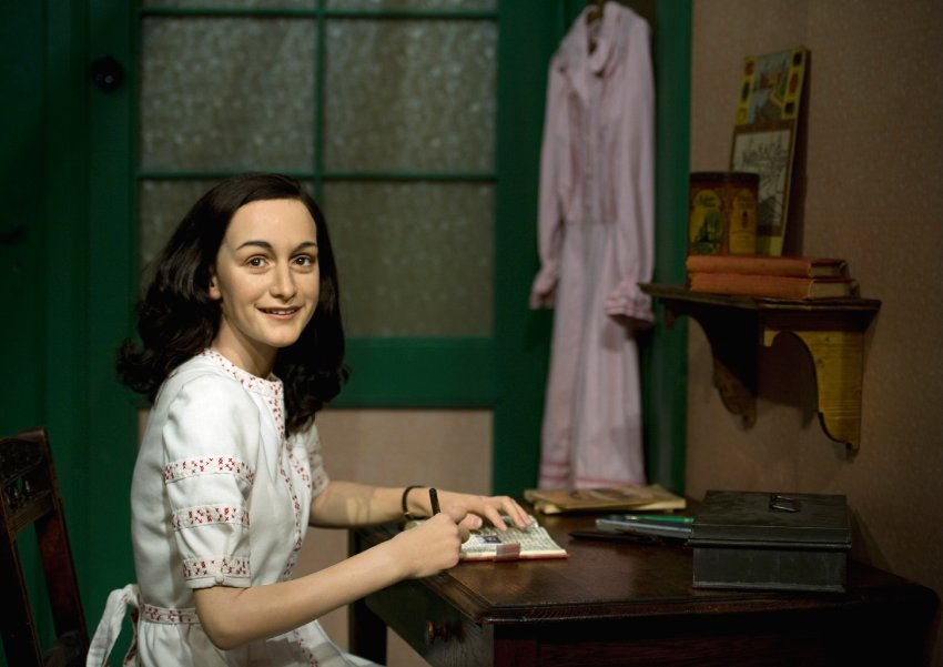 "Anne Frank Wax Figure in ""Madame Tussauds"" in Berlin"